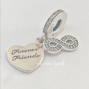 Authentic PANDORA Friends Forever Dangle Charm